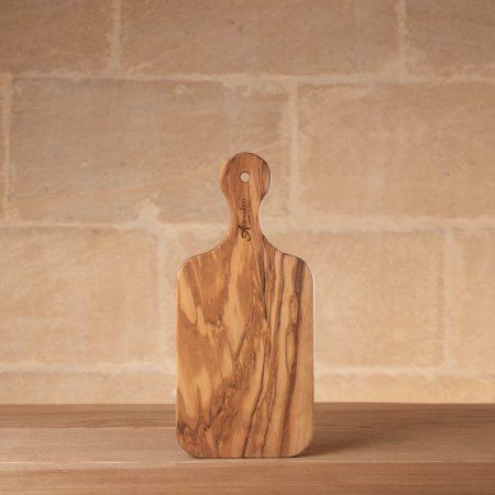 Tagliere con manico in legno d'olivo